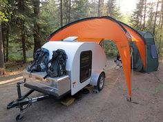 Teardrop Base Camp near Leavenworth, WA by cruiznbye, via Flickr***Research for potential future project.