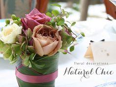 ナチュラルシック〜スモーキーピンクのバラとハーブの会場装花〜 [ ラ・ビュット・ボワゼ様 ] 自由が丘、奥沢の…