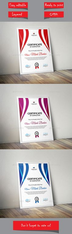 Certificate Template Certificate, Certificate design and Template - creative certificate designs