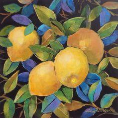 """Pam's Lemons"" original fine art by Nancy F. Morgan"