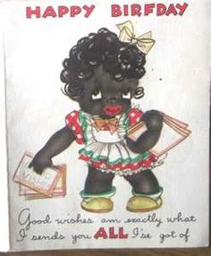 Vintage African American Birthday Greeting Card