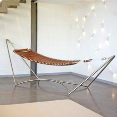 minimalhome  minimalhome seora   la seora alpine hammock ow ly y0tn8 pic  award winning lounger in mahogany and stainless steel    seora      rh   pinterest