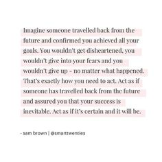 Success is inevitable ✨ Words Quotes, Wise Words, Life Quotes, Sayings, Pretty Words, Beautiful Words, Cool Words, Positive Quotes, Motivational Quotes