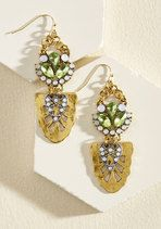 A Little Bit of Luster Earrings in Green | Mod Retro Vintage Earrings | ModCloth.com