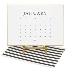 Classic Black Desk Calendar 2016 by Sugar Paper