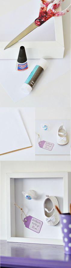 GIRLY DIY - Baby shadow box