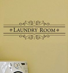 Laundry Room Vinyl Wall Decal  Vintage Style Wall Decal Wall