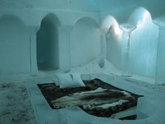 Sleeping in a hotel entirely made of ice, what a crazy experience.