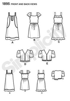 № 6/2012 Simplicity 1895 Line Drawing