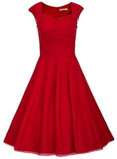 MUXXN Women 1950s Vintage Retro Capshoulder Party Swing Dress (XL, Red) MUXXN http://www.amazon.com/dp/B00SFN3XFI/ref=cm_sw_r_pi_dp_Tn3Cvb08VQJ6A