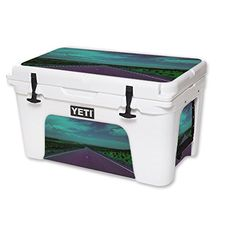 MightySkins Protective Vinyl Skin Decal for YETI Tundra 45 qt Cooler wrap cover sticker skins Highway -- Visit the image link more details.(This is an Amazon affiliate link)