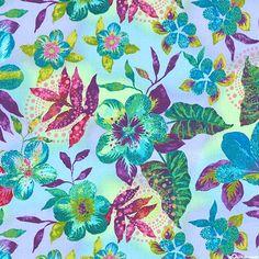Calypso Turtles - Exotic Hawaiian Flowers - Periwinkle