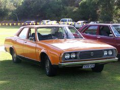 Leyland P76 ours was white with fake wood grain roof.