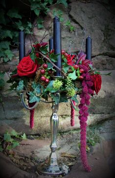 Unique flower arrangements for every occasion. We offer same day delivery in Market Drayton and Shropshire area. Unique Flower Arrangements, Unique Flowers, Table Arrangements, Gothic Flowers, Gothic Wedding, Dream Wedding, Grapevine Wreath, Houseplants, Cactus Plants