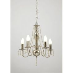 Prima 5 light ceiling fitting in silver finish - Ceiling Lights from Mail Order Lighting UK