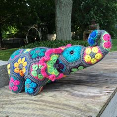 African Flower Elephant - Crochet creation by Alana Judah