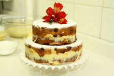 Naked cake natalino: à base de panetone