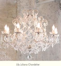 Lily Juliana Chandelier - in our dining room and above the staircase
