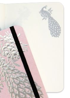 A6 Mini Peacock Blush Luxury Journal    #cristinare #design #luxury #journal #designer #black #elegant #vintage #diamante #soap #rose #wedding #flowers #pink #gold #whereagirlgoes #ornate #timeless #pastels #floral #pen #peacock  https://www.facebook.com/cristinaredesign