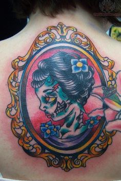 Exclusive Interview with Adam Potts, an emerging American Traditional style tattoo artist from ACME Ink Tattoos in Louisville, Kentucky. Sugar Skull Cat, Sugar Skull Tattoos, Traditional Tattoo Clouds, Traditional Tattoos, Tattoo You, New Tattoos, Sweet Tattoos, Tatoos, Cut Throat Razor Tattoo