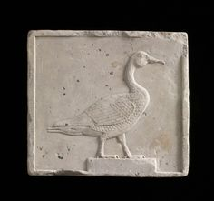 Plaque depicting a goose - Limestone - Saite Dynasty 26 - 525 B. Ancient Egypt Art, Ancient History, Egypt Museum, Freer Gallery, Egyptian Art, Stone Carving, Sculpture Art, Painting, Anubis