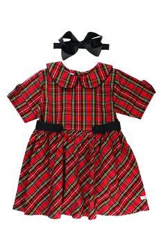 e461e5e24e9 RuffleButts Peter Pan Dress   Bow Head Band Set (Baby Girls)