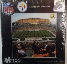Pittsburgh Steelers Heinz Field 100 piece Jigsaw Puzzle new sealed 100 Piece Puzzles, Jigsaw Puzzles, Pittsburgh Steelers Logo, Heinz Field, Football Stadiums, New England Patriots, Globe, The 100, Nfl