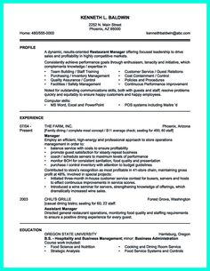 Front Desk Resume Sample Restaurant Manager Resume Example  Resume Examples Sample Resume