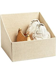 The Container Store Linen Handbag Storage Bin from The Container Store   BHG.com Shop