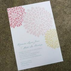 free printable. and you can change the color of the flowers to coordinate for the event. Shower invitations??