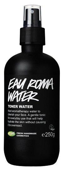 Eau Roma Water (ansiktsvann): Forfriskende, god før sminkepåføring.