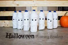 Halloween Mummy Bowling ~ Project 52 week 43 via Halloween Class Party, Halloween Dance, Halloween Carnival, Halloween Crafts For Kids, Halloween Games, Diy Halloween Decorations, Halloween Diy, Birthday Games, Birthday Crafts