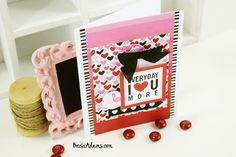 Valentines Card - Scrapbook.com - Adorable handmade valentine's day card!