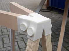 3ders.org - Anyone can make DIY furniture with these 3D-printed wood connectors | 3D Printer News & 3D Printing News