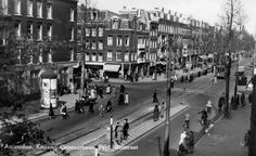 1950's. View on the crossing Ceintuurbaan and Ferdinand Bolstraat in Amsterdam. #amsterdam #1950 #ceintuurbaan
