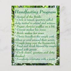 Shop Hawthorn & Oak Handfasting Program with Notes created by OldWaysAndAwen. Elvish Wedding, Witch Wedding, Pagan Wedding, Wedding Poems, Viking Wedding, Our Wedding, Dream Wedding, Celtic Wedding, Wedding Stuff
