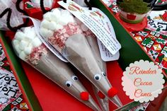 DIY Reindeer Cocoa Cones {Great Christmas Gift Idea} | Mommy's Kitchen