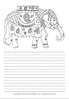 To Colour In This Dancing Elephant Click On The Image