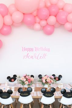 Vintage Disneyland Birthday Party For Scarlett in Awesome Scarletts First Birthday - Party Supplies Ideas 3rd Birthday Party For Girls, First Birthday Party Supplies, Birthday Party Decorations, Vintage Birthday, Birthday Ideas, Birthday Images, Birthday Quotes, Happy Birthday, Disneyland Birthday