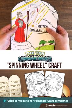 sunday school crafts for kids 10 Commandments Craft: Spinning Wheel Bible Activities For Kids, Bible Crafts For Kids, Bible Study For Kids, Bible Lessons For Kids, Fhe Lessons, Children Church Lessons, Bible Videos For Kids, Moses Crafts, Preschool Bible Activities