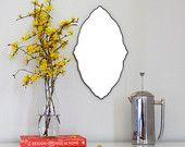 Oval Scalloped Mirror Handmade Wall Mirror Ornate Organic Frameless Wall Mirror Miroir