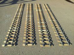 It is a line that was assembled sleepers and rails, metal fittings.