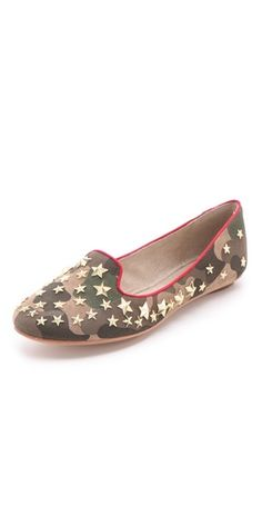 star studded camo loafers