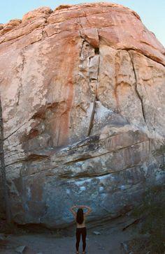 Wonder @ Joshua Tree National Park #Climbing #Rock Climbing (Natalie Duran)