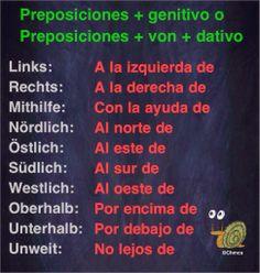 Ich bin, du bist, sie..: 52º PASO: LAS PREPOSICIONES: GENITIVO. TERCERA PAR...