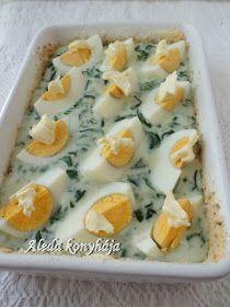 Aleda konyhája: Spenótos tojás gratin