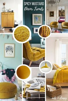 Spicy Mustard Interior Decor Trends + Inspiration