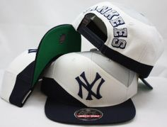 """MLB New York Yankees Snapback 3 Tone Adjustable Plastic Snap Back Hat / Cap """"Limited Edition"""" by American Needle. $19.99. American Needle built a wool structured hat, flat billed, vintage embroidered lofted & flat logo, & adjustable snapback self-button backstrap. Needless to say, these caps provide a look and feel all their own!! Don't blend in with the masses - wear something unique."""