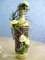 Композиция в бутылке с мозаикой №113 Reuse Wine Bottles, Wine Bottle Art, Clay Wall Art, Frame Crafts, Bottle Design, Plant Hanger, Projects To Try, Jars, Creative