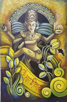 Mughal Paintings, Indian Art Paintings, Modern Art Paintings, Oil Paintings, Lord Shiva Painting, Ganesha Painting, Madhubani Painting, Shiva Art, Krishna Art
